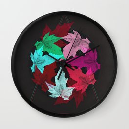 Leaves & Colors Wall Clock