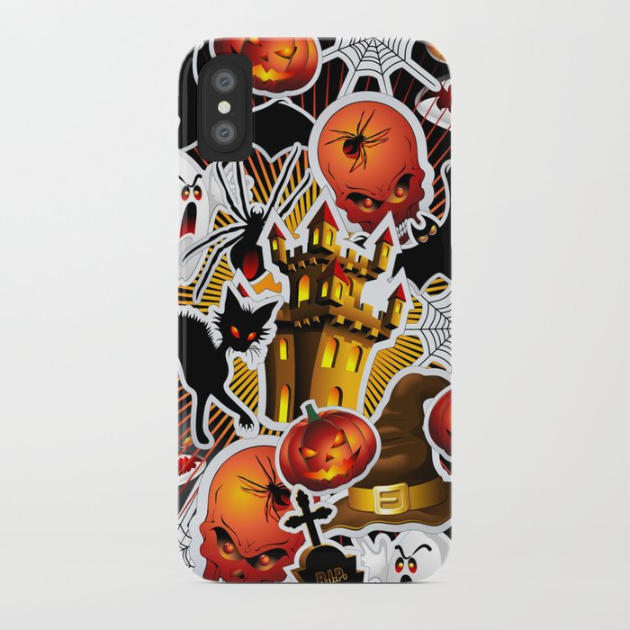 Halloween Spooky Cartoon Saga iPhone Case