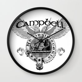 CAMPBELL FAMILY CREST Wall Clock
