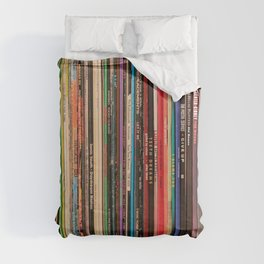 Record Collector Duvet Cover