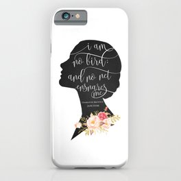 I am no Bird - Charlotte Bronte's Jane Eyre iPhone Case