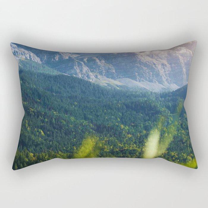 Grass Mountain View (Color) Rectangular Pillow