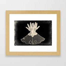 X-Ray of Vintage Gloves Framed Art Print