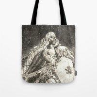 berserk Tote Bags featuring Skull Knight by DawnG