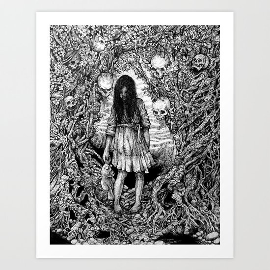 The Whispering in the Trees Art Print