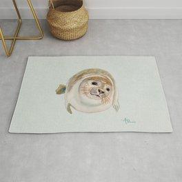 Sea Lion Watercolor Rug