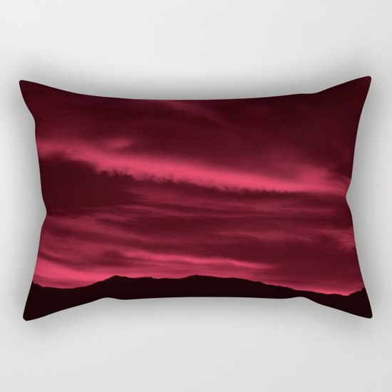 SW Burgundy Sunrise Rectangular Pillow