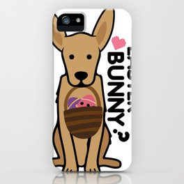 Golden Easter Funny for Boys Girls Love Dog Puppy iPhone Case
