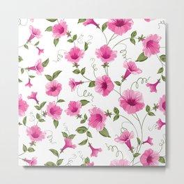 vintage floral card Metal Print