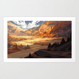 Yellow Mountain Art Print