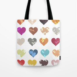 Colorful love pattern Tote Bag