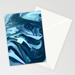 Turquoise + Teal Marble Stationery Cards