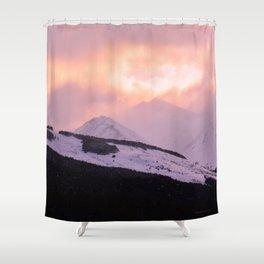 Rose Quartz Turbulence - III Shower Curtain
