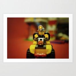 Lego Vintage Car Art Print