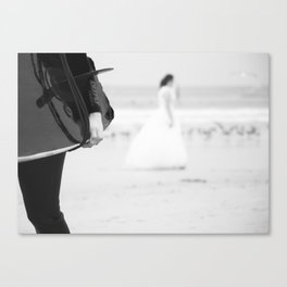 catch a wave and love Canvas Print