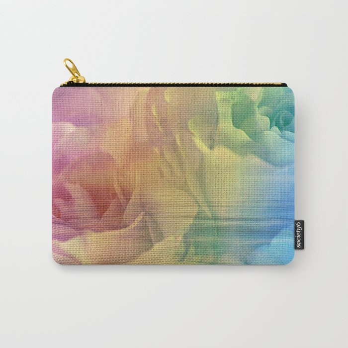 Rainbow Rose Water Abstract Carry-All Pouch