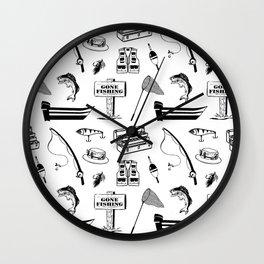Gone Fishin Wall Clock