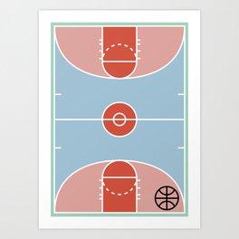 Courts / Basketaball Art Print