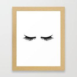 Lady Lashes Framed Art Print