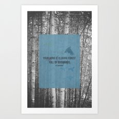 ee cummings - songbirds. Art Print
