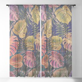 My Tropical Garden 21 Sheer Curtain