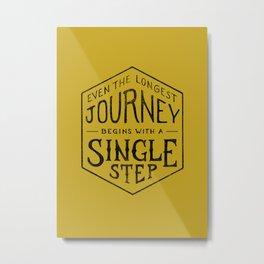 A SINGLE STEP Metal Print