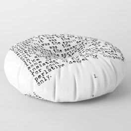 It was the Best of Times, It was the Worst of Times Floor Pillow