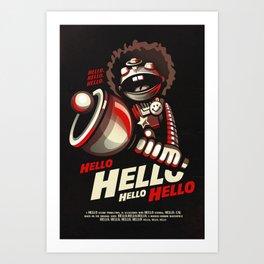 HELLO! HELLO! (black) Art Print