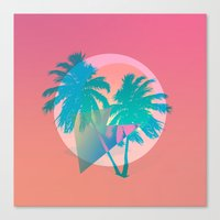 miami Canvas Prints featuring MIAMI by DIVIDUS