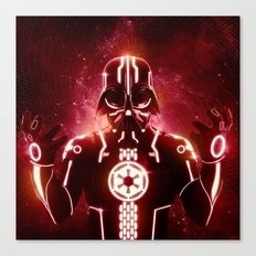 Tron Vader Red Canvas Print