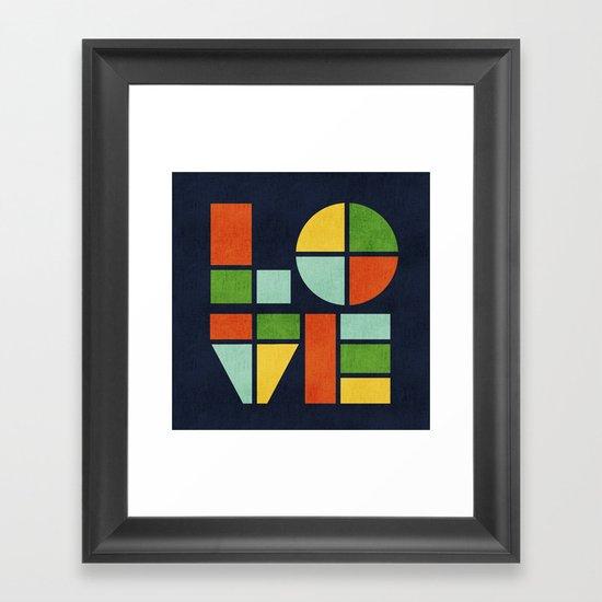 Love is Framed Art Print