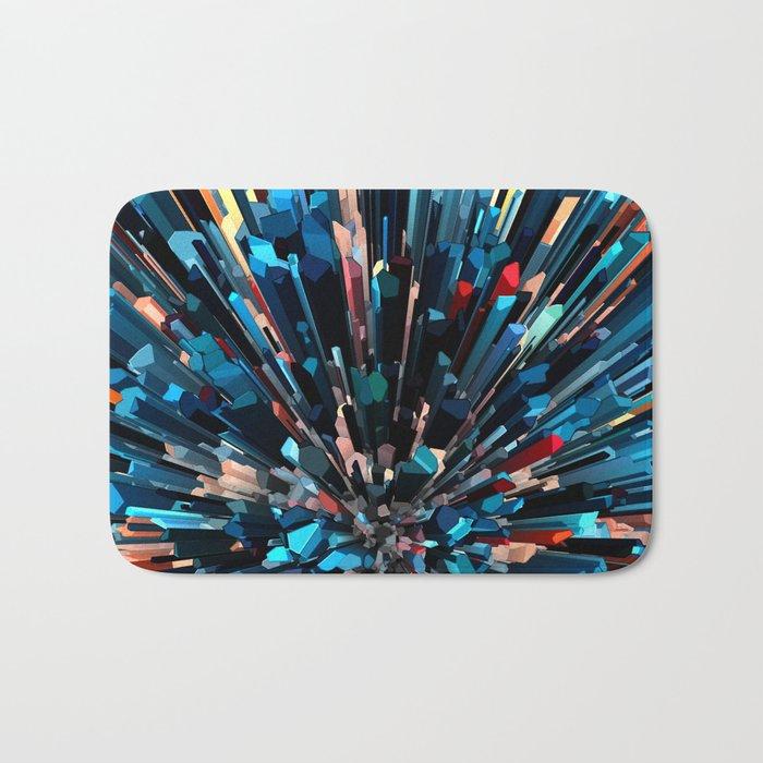 Three Dimensional Color Stacks Bath Mat