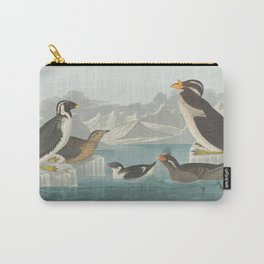 Vintage Illustration of Penguin Breeds (1838) Carry-All Pouch
