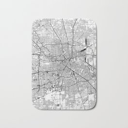 Houston White Map Bath Mat