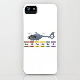 Civil Helicopters Chemistry iPhone Case