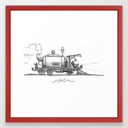 STEAMTRAIN Framed Art Print