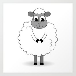 Not BaAad Lamb / Ewe Art Print