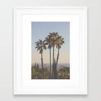 Framed Art Prints featuring L.A. by Luke Gram