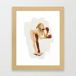 Boxe Girl Framed Art Print