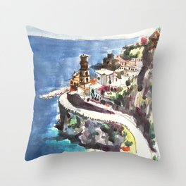 Amalfi Coast Positano Italy Throw Pillow