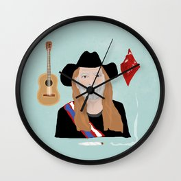 Willie Nelson & His Things Wall Clock