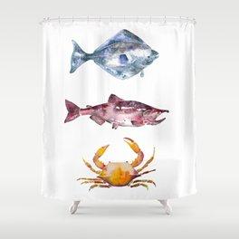 Alaska Marine Life Shower Curtain