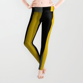 yellow gray and black Leggings