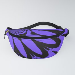 The Modern Flower Periwinkle & Black Fanny Pack