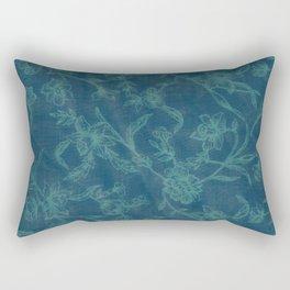 Flower Pattern (Green version) Rectangular Pillow