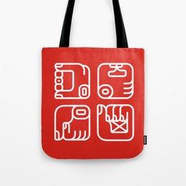 Mayan Glyphs ~ Hands Tote Bag