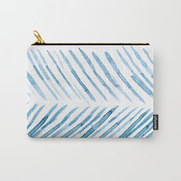Watercolor Blue Lines Carry-All Pouch