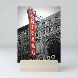 Chicago Theater in Selective Color Mini Art Print