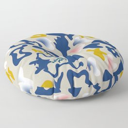Leo Sea Peace Print by Anthea Missy Floor Pillow