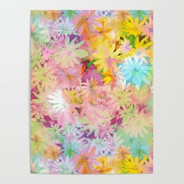 A bed of flowers. Poster